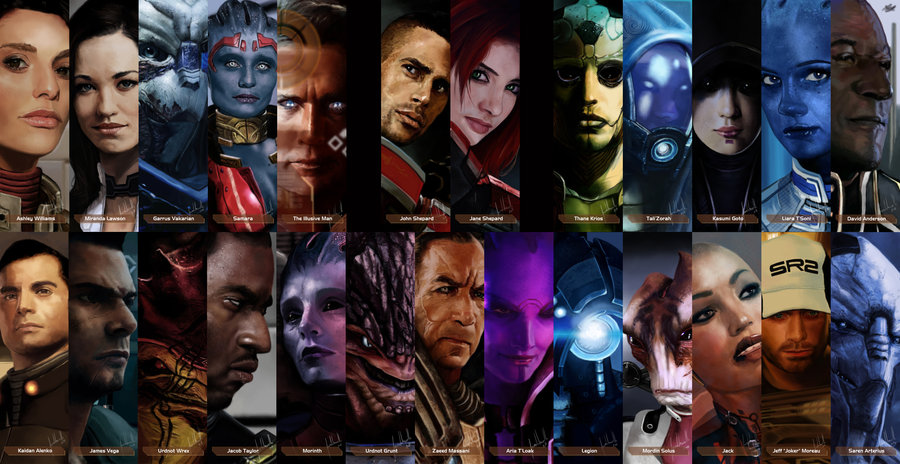 Mass Effect Team Illustrations by *Facuam