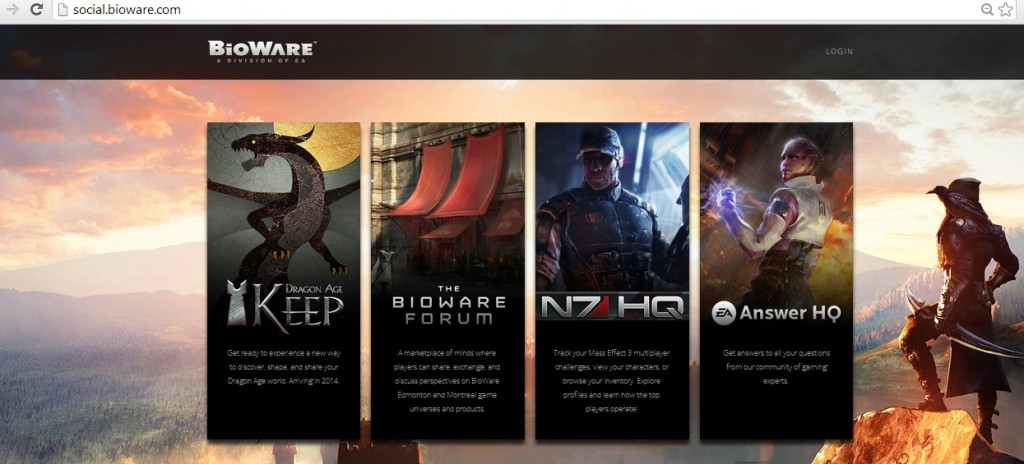 We've rebranded social.bioware.com as a new landing page to guide players to our key online spaces including Dragon Age Keep, the BioWare Forum, N7HQ, and EA Answer HQ!